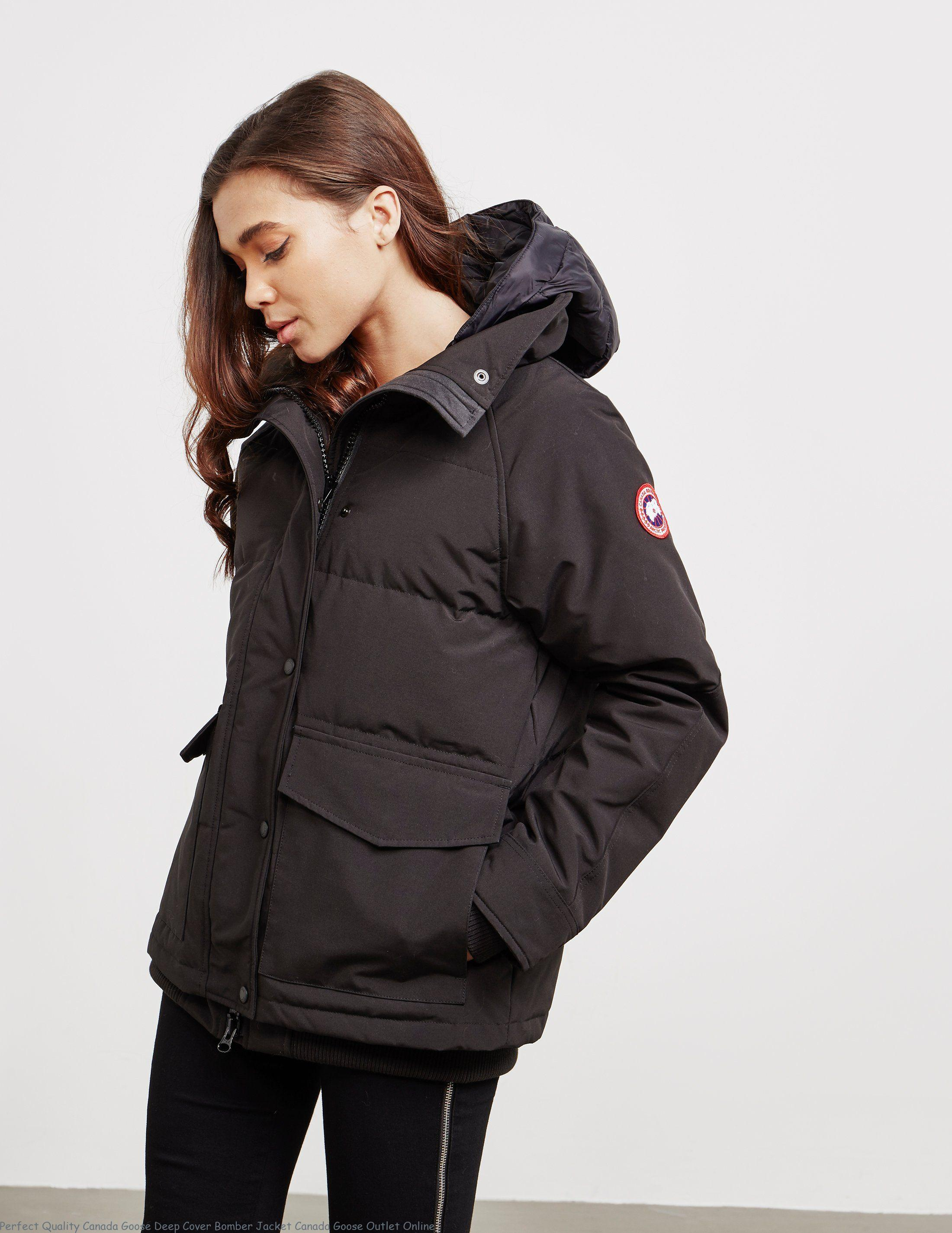 02f6fec3a Perfect Quality Canada Goose Deep Cover Bomber Jacket Canada Goose Outlet  Online